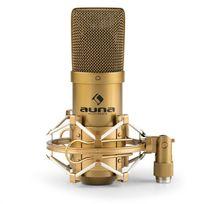 AUNA - MIC-900G USB Microphone de studio à condensateur cardioïde - or