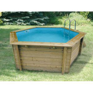 Nortland ubbink vigipiscine kit piscine bois azura for Liner piscine ronde pas cher