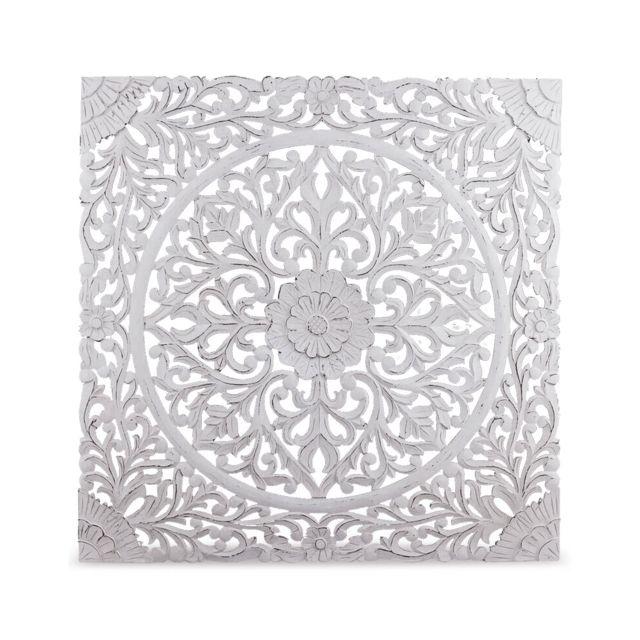 menzzo t te de lit flora 140cm bois blanc pas cher achat vente t tes de lit rueducommerce. Black Bedroom Furniture Sets. Home Design Ideas