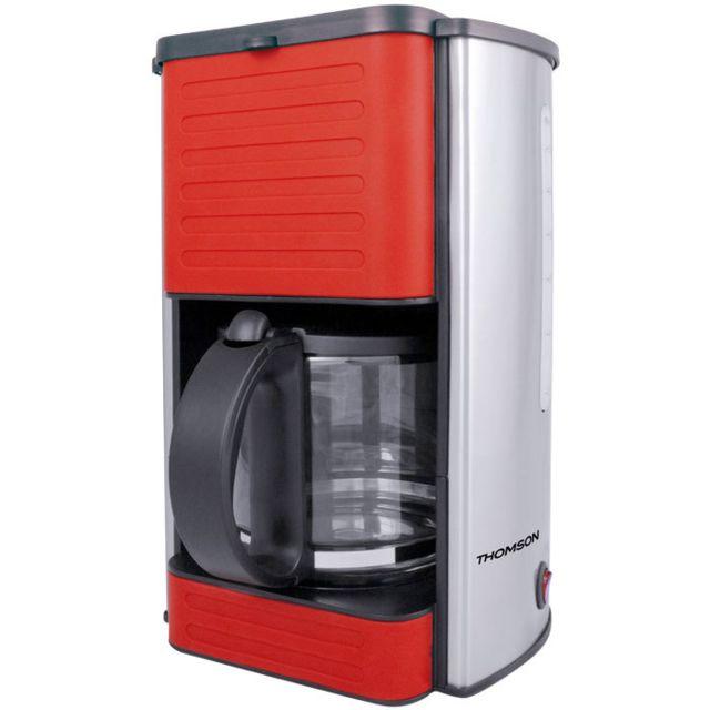 Thomson Thco07709R - Cafetière à filtre permanent - 1,5 L - 10 12 tasses -  Puissance 1080 W - rouge - Achat Cafetière 8a77187e6585