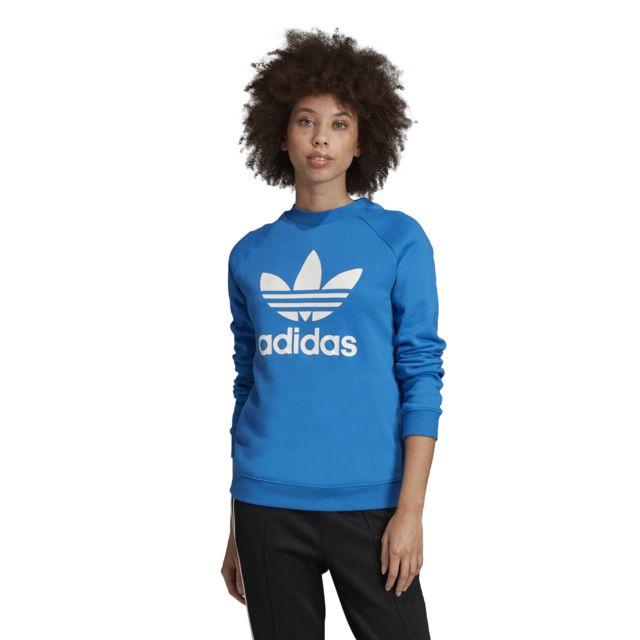 Adidas Sweat femme Trefoil Crewneck pas cher Achat