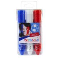 Grim Tout - Crayons maquillage tricolore 3 sticks Match Supporter - Grim'tout