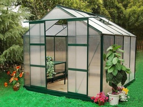 Marque generique serre de jardin en polycarbonate de 7 5 m greenea ii avec embase pas cher - Serre de jardin carrefour ...