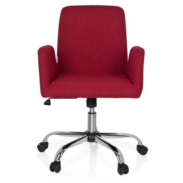 Hjh Office Chaise de bureau Flow tissu rouge