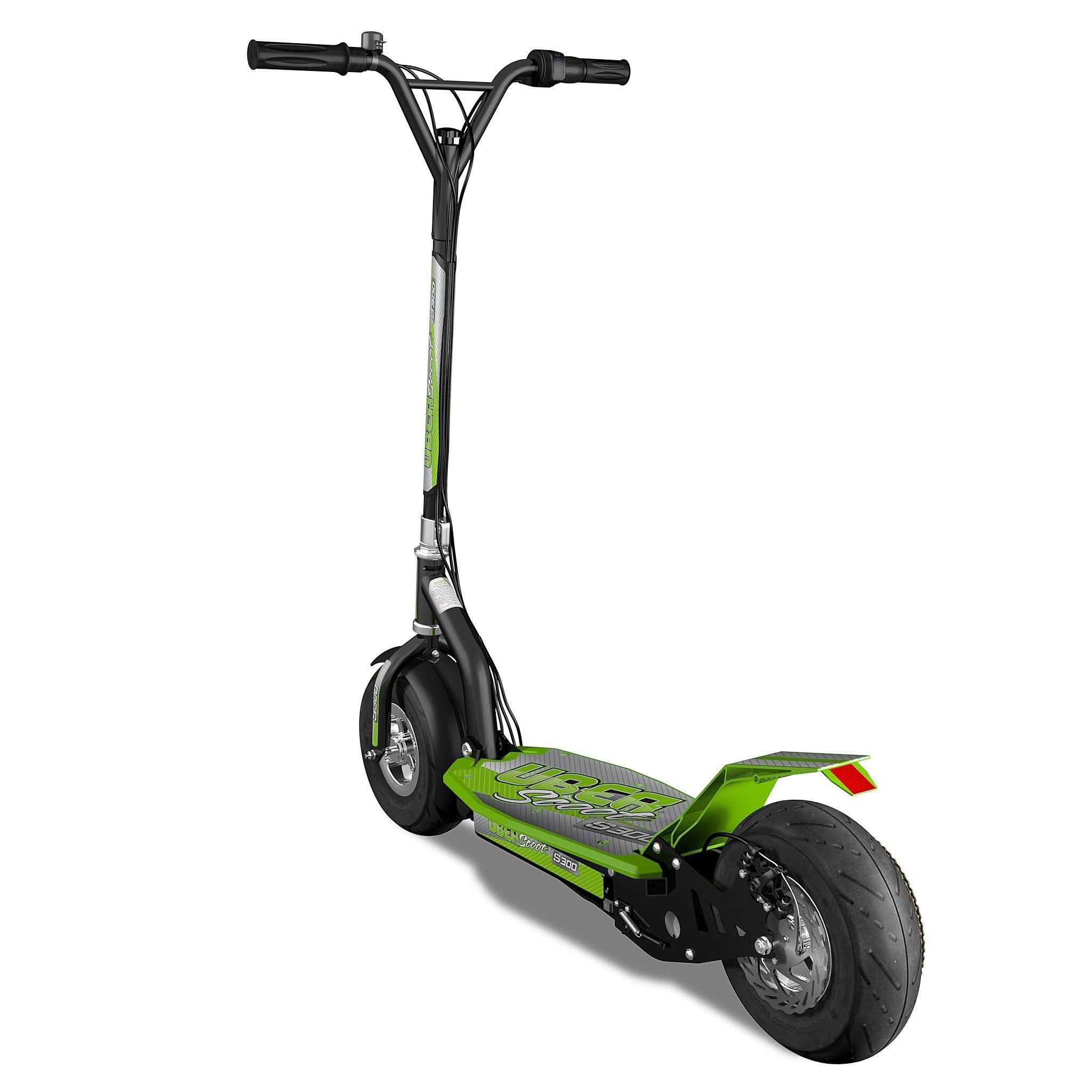 S300 Trottinette électrique verte et noire