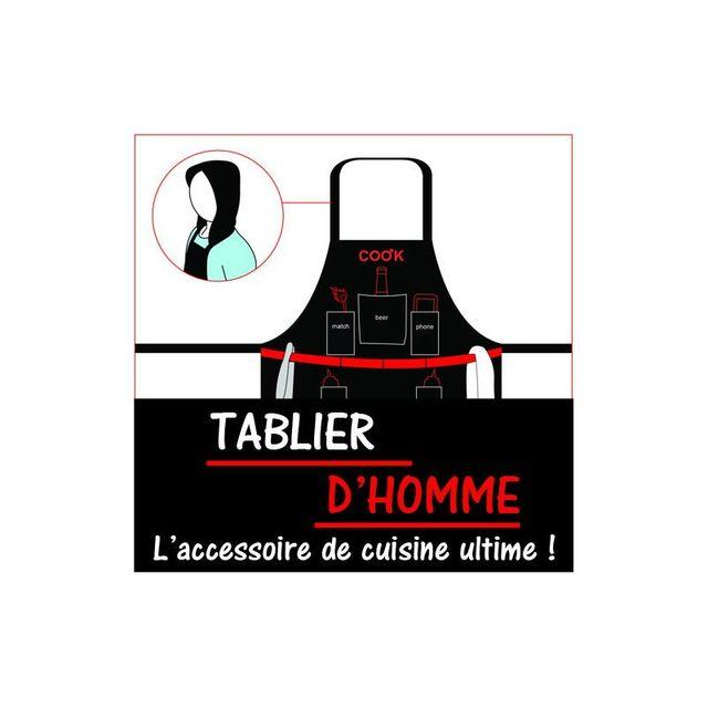 Kas Design Tablier d'Homme - Man Apron, Cadeau Fun