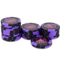 Pokeo - Rouleau 25 jetons Premium Poker Violet