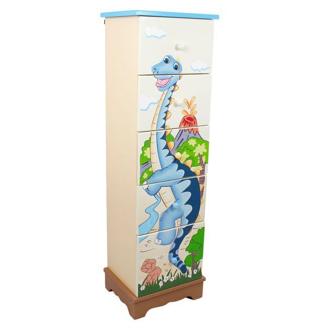 FANTASY FIELDS Meuble de rangement 5 tiroir Dinosaur