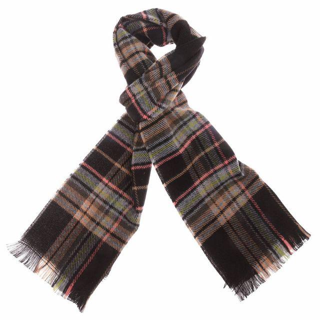 Rue Des Hommes - Echarpe noire à motifs écossais - pas cher Achat   Vente  Echarpes - RueDuCommerce 40faa1239ff