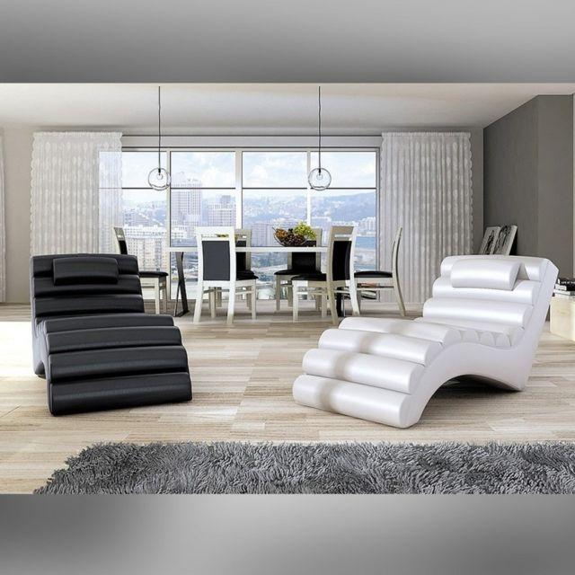 Meubler Design Fauteuil Relax Beach Noir