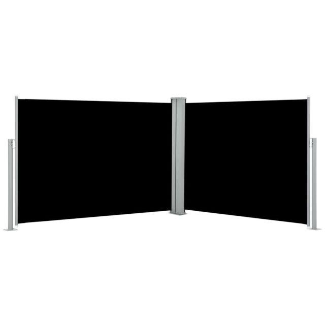 Vidaxl Auvent latéral rétractable Noir 100 x 1000 cm