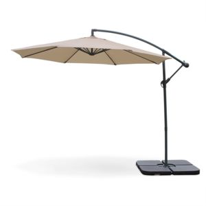 alice 39 s garden parasol d port rond hardelot 300cm excentr beige 8 baleines pas cher. Black Bedroom Furniture Sets. Home Design Ideas