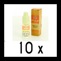 Pulp - Lot 10 e-liquides Peau de Peche 18mg soit 4,90 euros le flacon 10ml