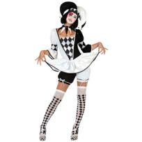 Atosa - 22961 - Costume - DÉGUISEMENT De Bouffon Femme - Adulte - Taille 1