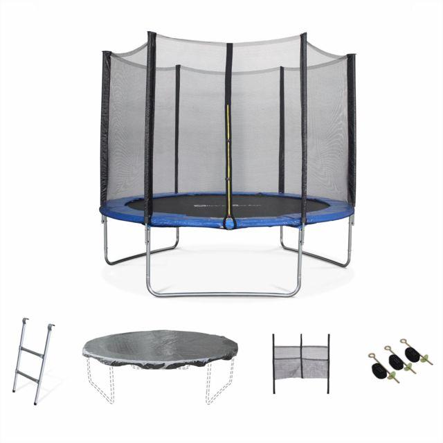 alice 39 s garden trampoline 305cm mars xxl bleu avec filet de protection chelle b che. Black Bedroom Furniture Sets. Home Design Ideas