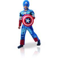 Marvel - Déguisement Enfant Captain America - The Avengers - Taille : 7/9 ans 120 à 132 cm