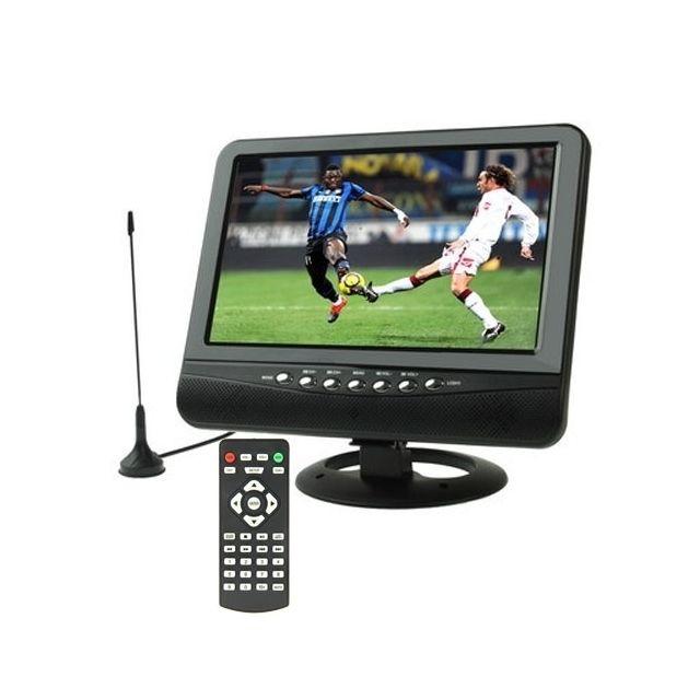 wewoo moniteur lcd noir 9 5 pouces tft lcd couleur tv analogique portable avec angle de vue. Black Bedroom Furniture Sets. Home Design Ideas