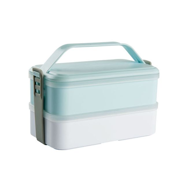 Kitchen Artist Lunch box rectangulaire 2 compartiments bleu Men232B