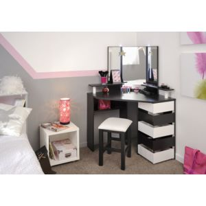 last meubles coiffeuse beauty avec tabouret pas cher achat vente commode enfant. Black Bedroom Furniture Sets. Home Design Ideas