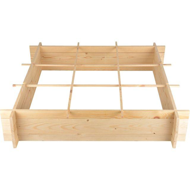 secret du potager carr potager en bois 1 m tre pas cher achat vente carr potager. Black Bedroom Furniture Sets. Home Design Ideas
