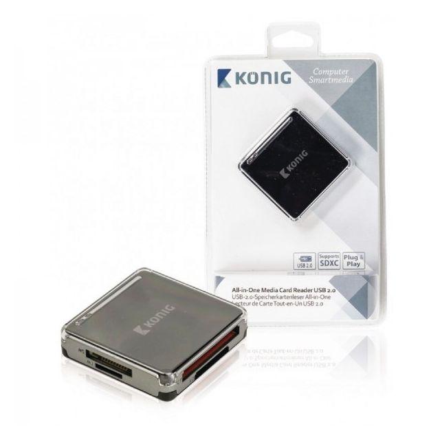 Konig - Lecteur de carte mémoire tout-en-un Usb2.0