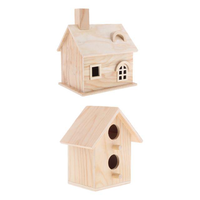 maison bois Oiseaux cabane à oiseau bois