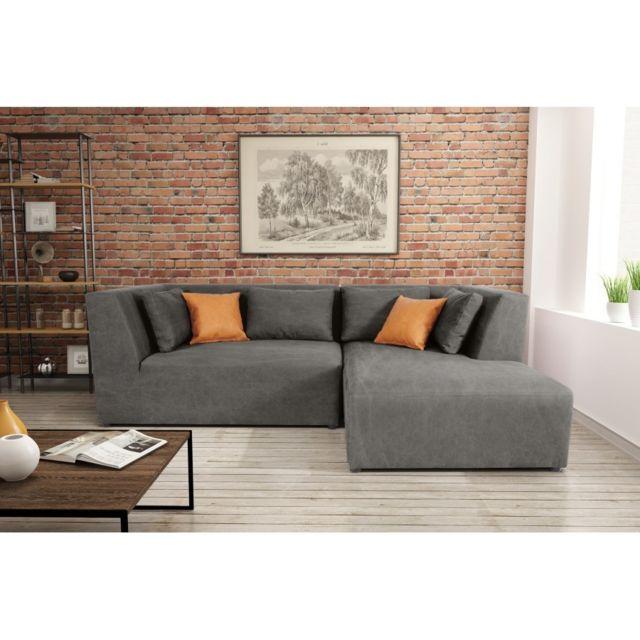 Rocambolesk Canapé Neron El140 Lchr Denim 14 antr Kos 05 sofa divan