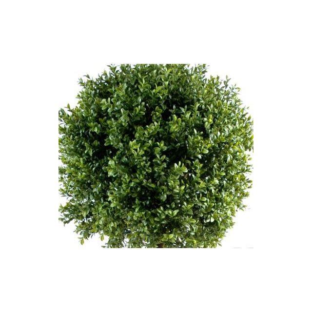 Artificielflower Plante artificielle convient en extérieur Buis tige boule - H.110 cm vert - hauteur : 110 cm