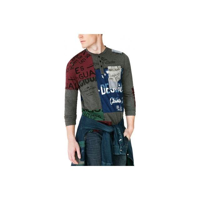 Cher Desigual Achat Pas Vente Nc Roger Tee Shirt wRfa1q