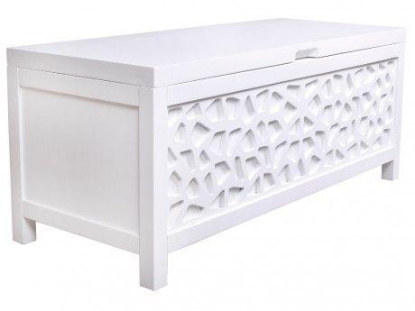 marque generique bout de lit coffre dolly bois mdf laqu blanc - Bout De Lit Coffre
