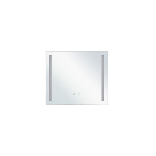 BELIANI Miroir mural 70 x 60 cm avec LED LIRAC - blanc
