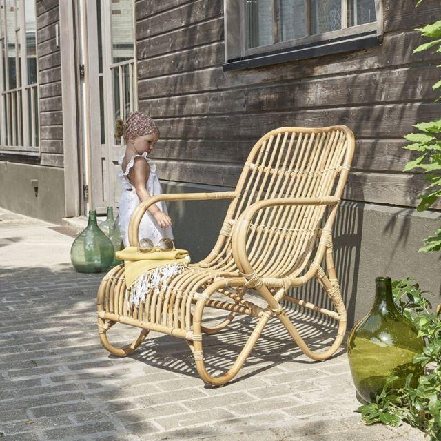 bois dessus bois dessous fauteuil en rotin relax naturel pas cher achat vente chaises. Black Bedroom Furniture Sets. Home Design Ideas