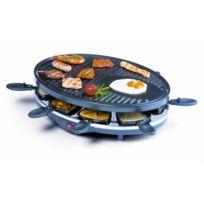Domo - Raclette Grill - 8 Personnes - Avec double élément chauffant