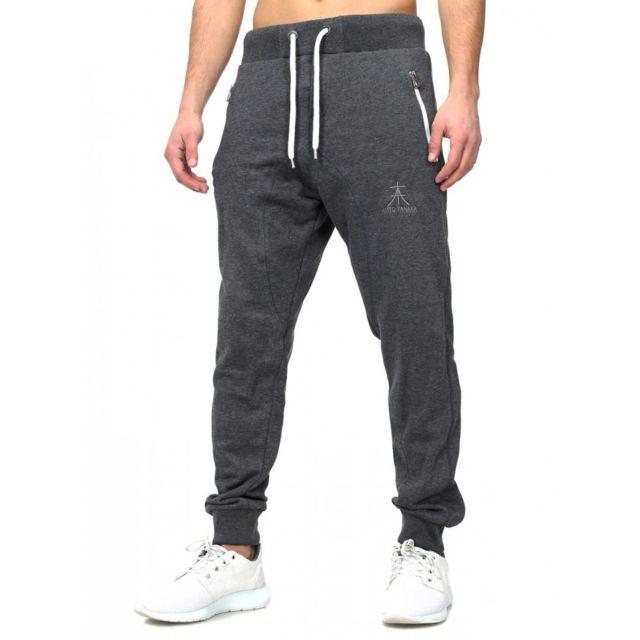 Akito Tanaka - Jogging Coton Homme 337 Gris - pas cher Achat   Vente Survêtement  homme - RueDuCommerce e08faab5965