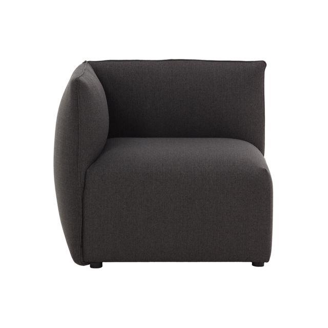 MILIBOO Angle de canapé design tissu gris foncé MODULO