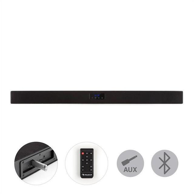 AUNA - Areal Bar 150 Barre de son Bluetooth USB SD 2 x AUX Télécommande - noir