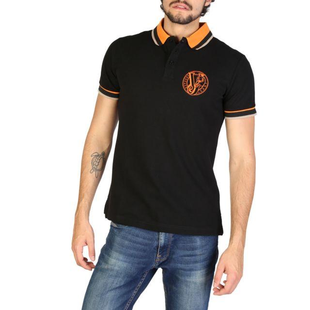 Buzzao - Polo homme noir Versace Jeans - pas cher Achat   Vente Polo homme  - RueDuCommerce 495d30eca5e4
