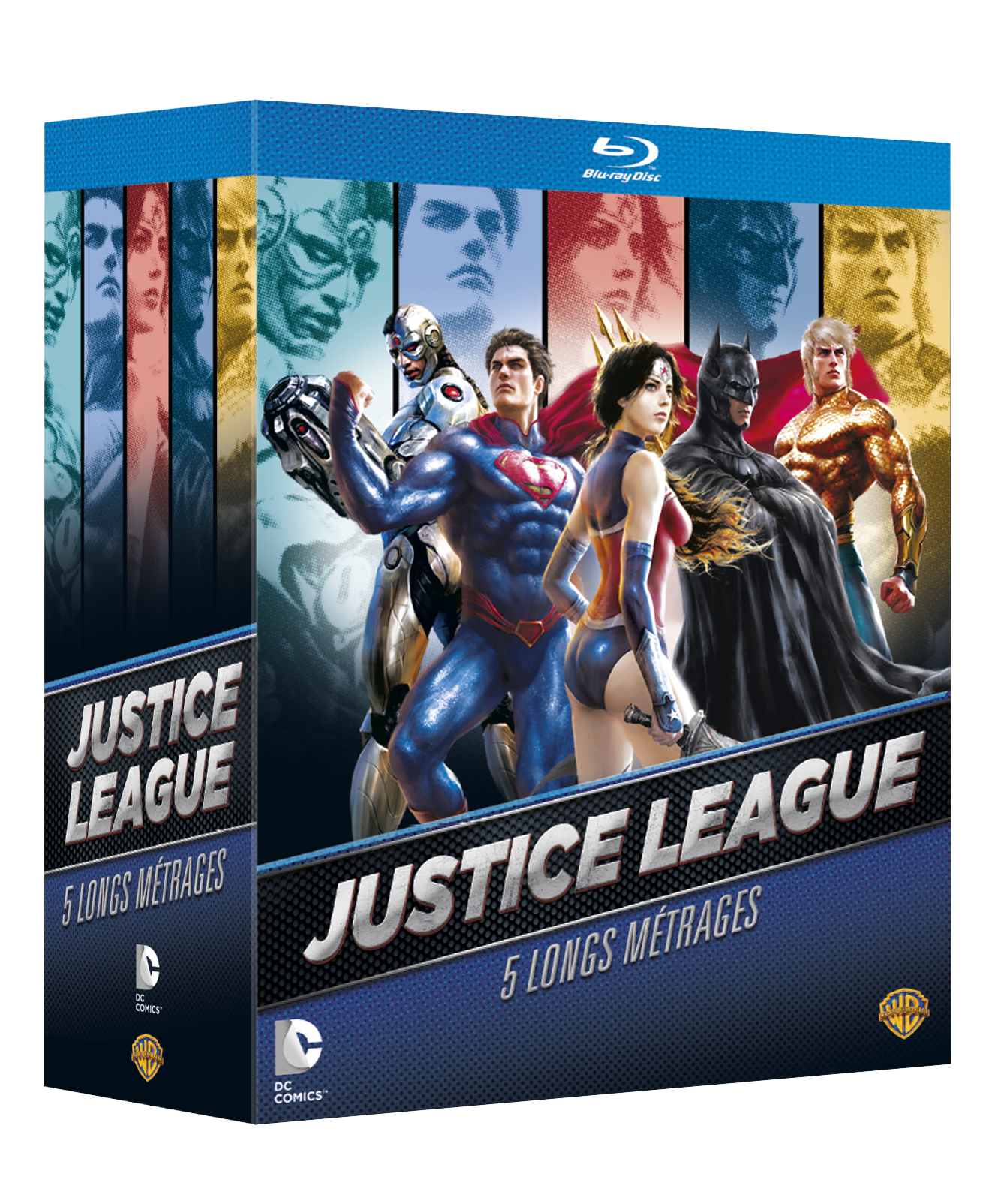 Coffret blu-ray justice league