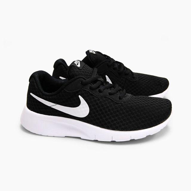 Nike TANJUN GS NOIRBLANC pas cher Achat Vente Baskets