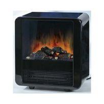 E.W.T. - Cheminée électrique Mini Cube Noire - 1500W