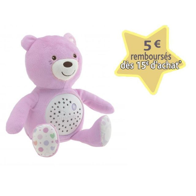 CHICCO Ourson Projecteur Baby Bear Rose - 8015100000