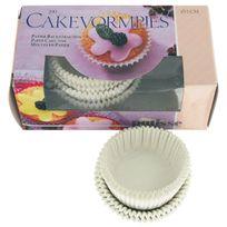 Patisse - Caissettes pâtisserie - Grand modèle - Diam. 5 cm - Blanc - Par 200