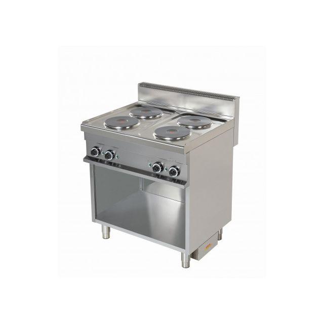 Combisteel Piano de Cuisson Electrique 4 plaques x 2,6 kW Cuisine Professionnelle 700