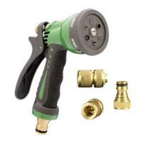 Sanifri - Pistolet d'arrosage Pour tuyau 1/2 6 modes d'arrosage Set de raccordement en laiton