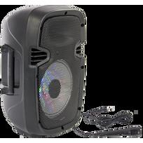 Party Light&sound - Party-7LED Enceinte portable 8¨/ 20cm - 300W avec Usb, Bluetooth, Fm et micro