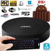 Yonis - Passerelle multimédia Android Tv Box 4K KitKat Quad Core WiFi 8Go