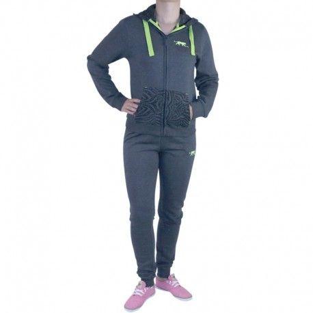 bdf1572a81c90 Airness - Survêtement Framboise Gris Femme - pas cher Achat / Vente  Survêtement homme - RueDuCommerce
