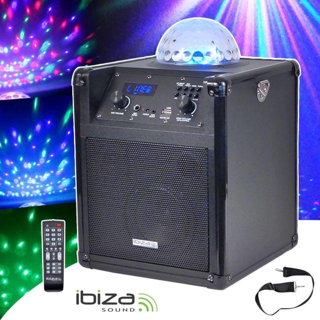 Ibiza Enceinte Mobile 60W Autonome Effet Astro Led Rvb