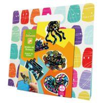 Au Sycomore - Pochette créative : Scratch Art Stickers