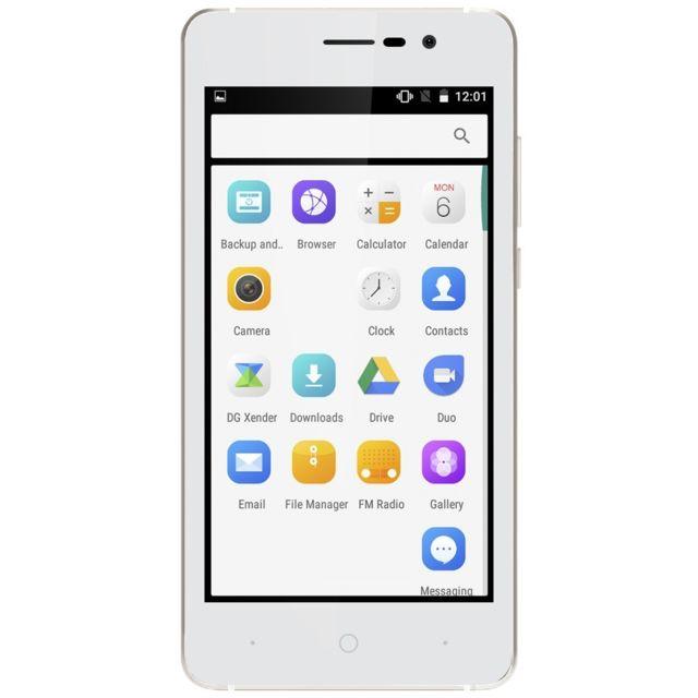 Auto-hightech Smartphone 5.0 pouces 3G avec Android 6.0, dual core et bluetooth - Blanc